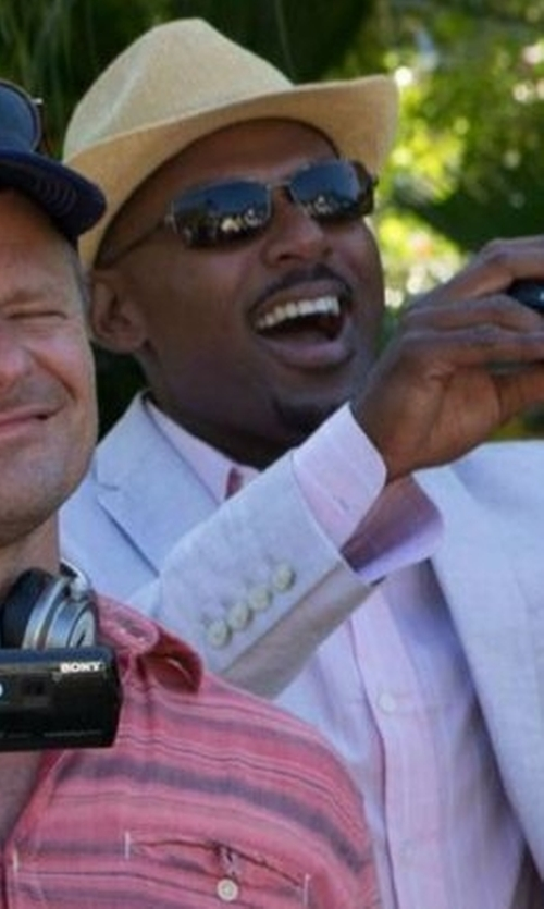 Romany Malco with Ray-Ban Metal Rectangle Sunglasses in Mad Dogs