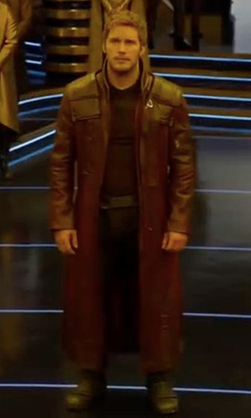 Chris Pratt with Judianna Makovsky (Costume Designer) Custom Made Star Lord Costume in Guardians of the Galaxy Vol. 2