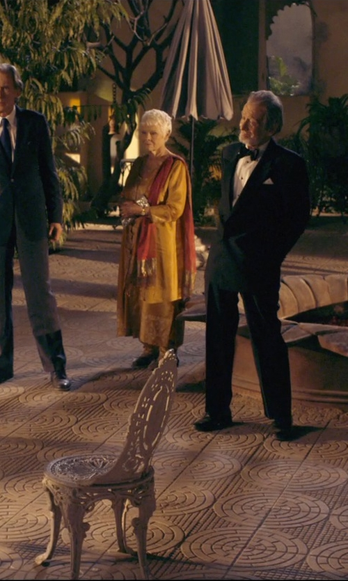 Judi Dench with Charlotte Olympia 'Charlotte's Web' Velvet Slip-Ons in The Second Best Exotic Marigold Hotel