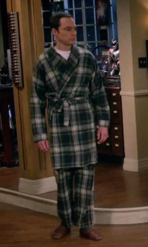 Jim Parsons with Vintage LL Bean Pajama & Robe in The Big Bang Theory