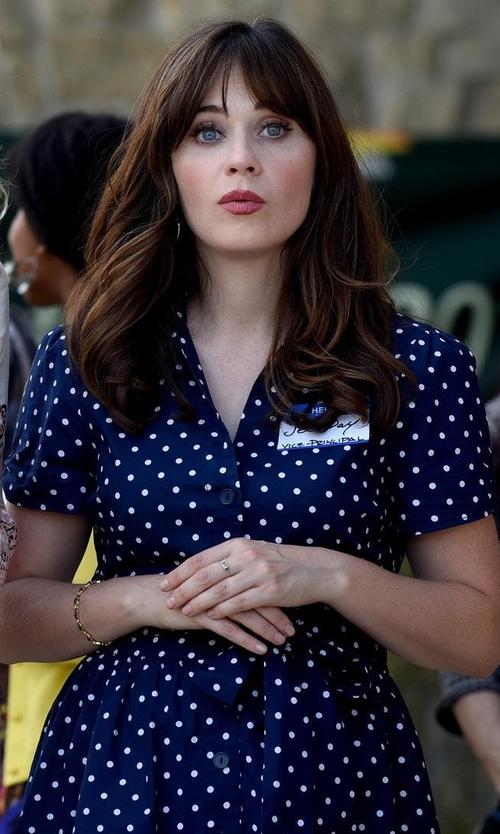 Zooey Deschanel with Modcloth Summer School Cool Dress in New Girl