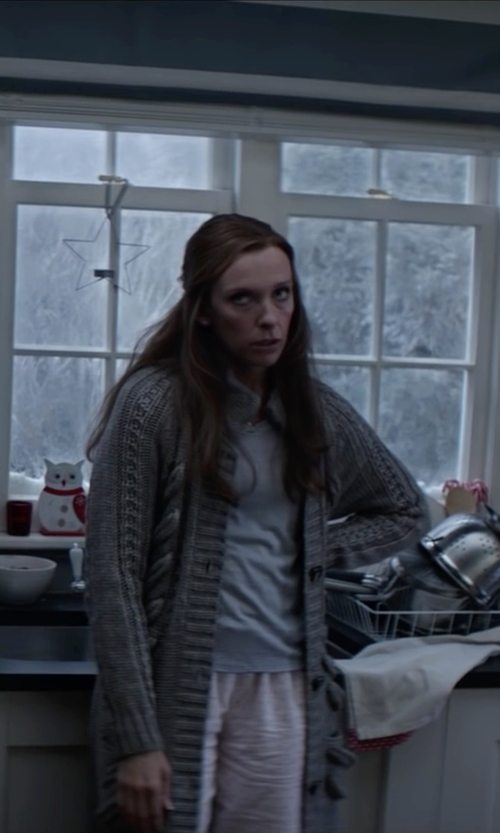 Toni Collette with Jockey Pajamas Modern Cotton Pajama Pants in Krampus