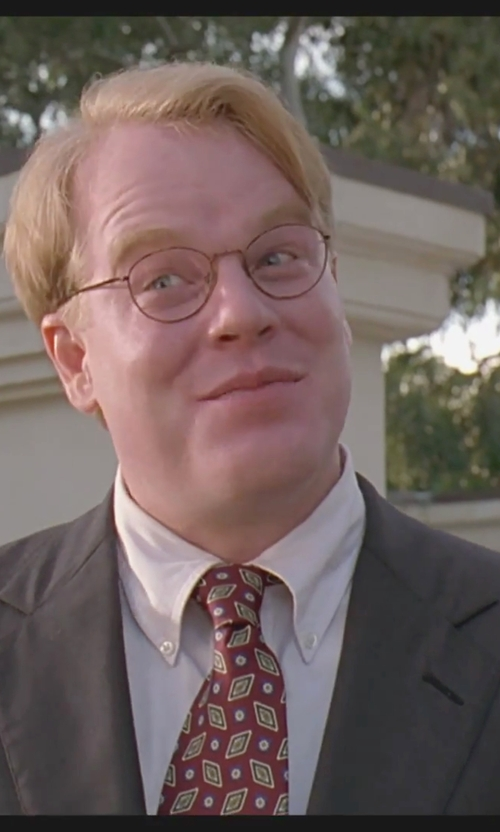 Philip Seymour Hoffman with Tom Ford Round Metal Eyeglasses in The Big Lebowski