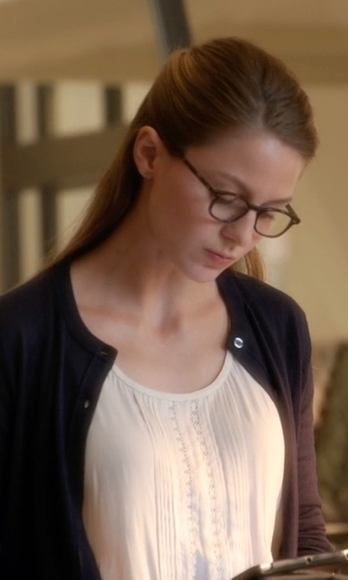 Melissa Benoist with Volcom Market Street Cami Top in Supergirl