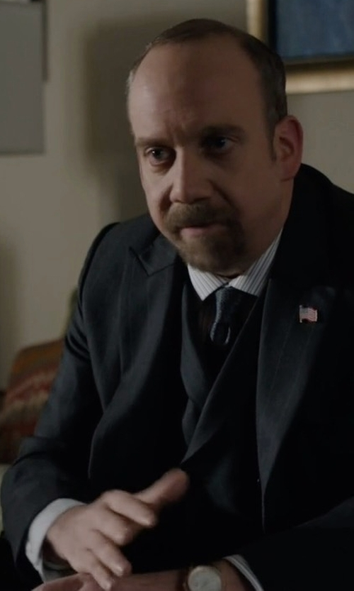 Paul Giamatti with Shinola Canfield Alligator Strap Watch in Billions