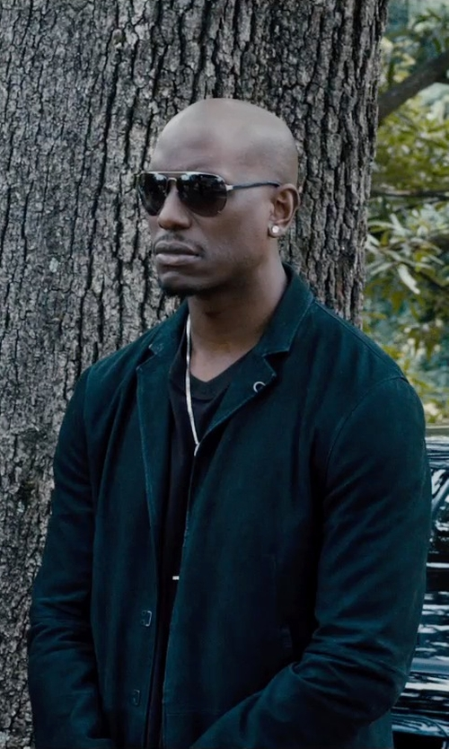 Tyrese Gibson with Tom Ford Eyewear Sergio Aviator Sunglasses in Furious 7
