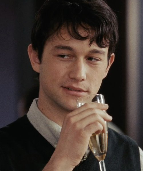 Joseph Gordon-Levitt with LenoxTuscany Fluted Champaign Glass in (500) Days of Summer