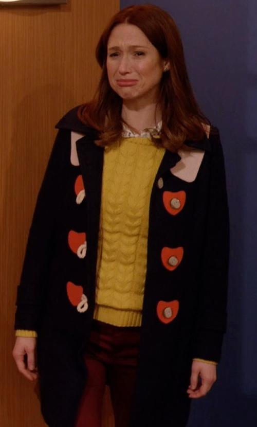 Ellie Kemper with Kling Sweet On You Coat in Unbreakable Kimmy Schmidt