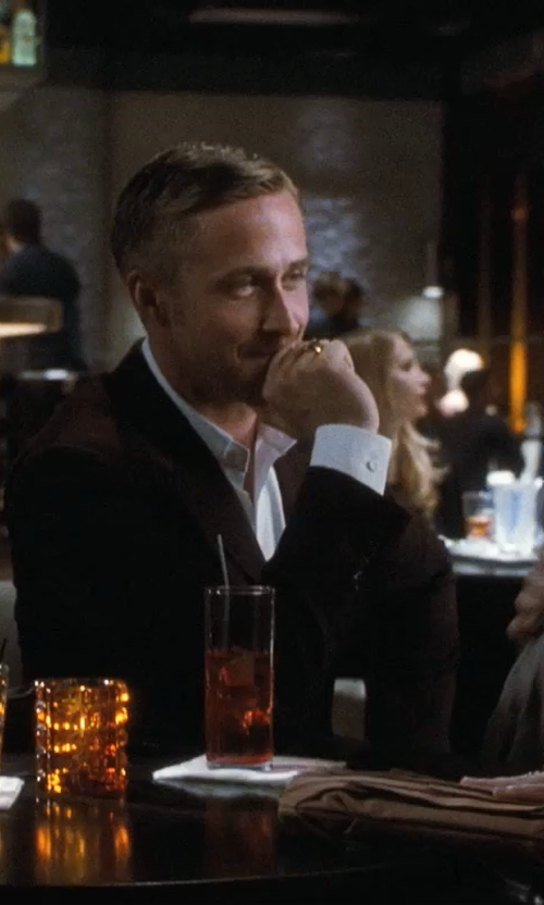 Ryan Gosling with David Yurman Petrvs Horse Signet Ring With Carved Black Jade In Gold in Crazy, Stupid, Love.