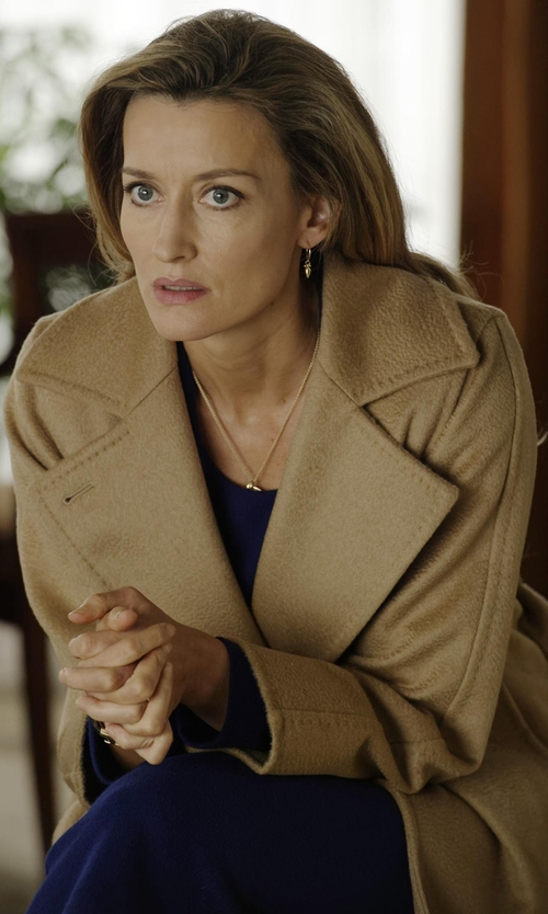Natascha McElhone with Max Mara Belted Camel Hair Coat in Designated Survivor