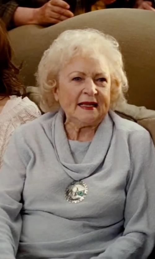 Betty White with Magaschoni Cashmere Cowl Neck Sweater in The Proposal