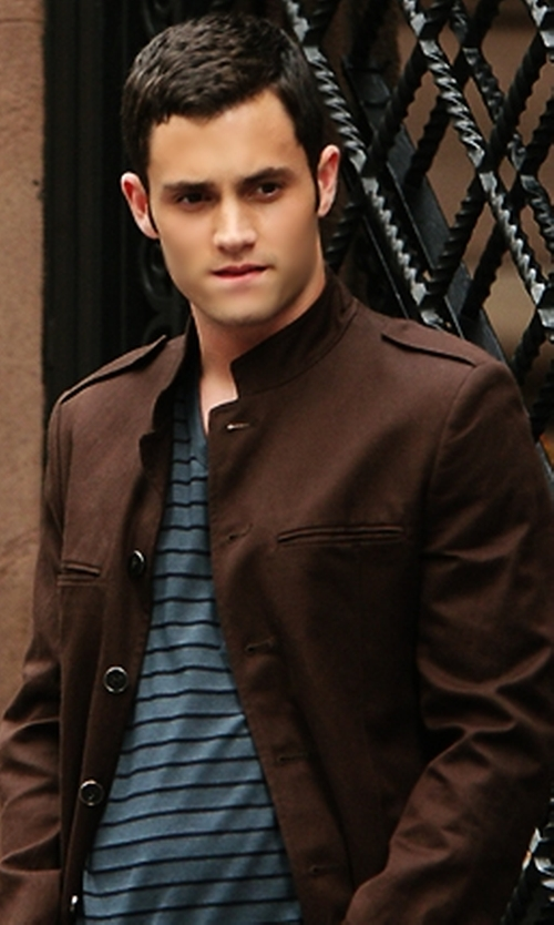 Penn Badgley with Cole Haan Wool/Cashmere-Blend Coat in Gossip Girl