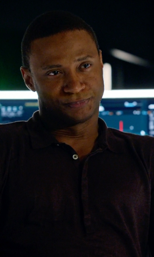 David Ramsey with Marshall Artist Long Sleeve Polo Shirt in Arrow