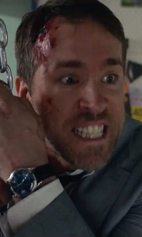 Ryan Reynolds with Komono Winston Watch in The Hitman's Bodyguard