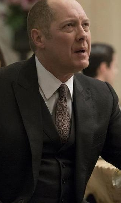 James Spader with Eton Medallion Silk Tie in The Blacklist