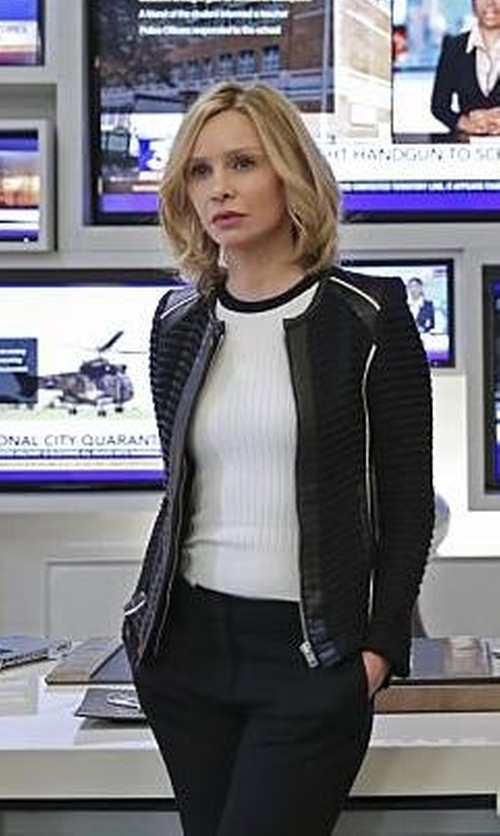 Calista Flockhart with T By Alexander Wang   Ribbed Knit Top in Supergirl