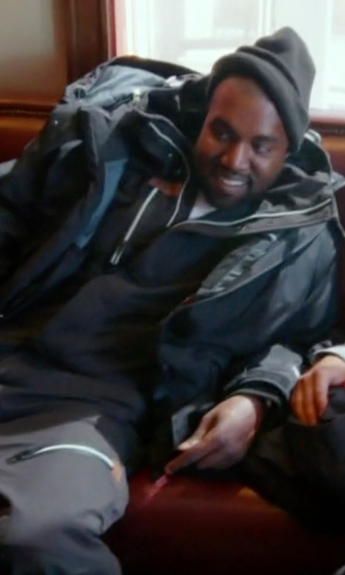 Kanye West with Supreme Uptown Down Parka in Keeping Up With The Kardashians