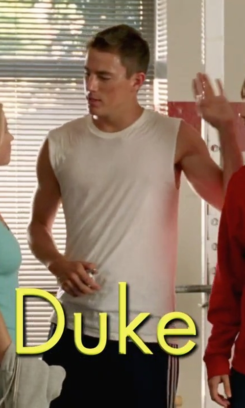 Channing Tatum with Calvin Klein Air FX Micro Muscle Tank Top in She's The Man