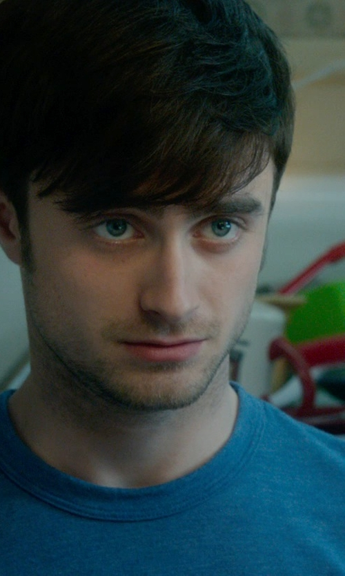 Daniel Radcliffe with John Varvatos Collection Crosshatch Crewneck T-Shirt in What If