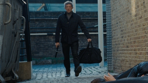 Vincent Cassel with Belstaff Trailmaster Double-Buckle Leather Boots in Jason Bourne