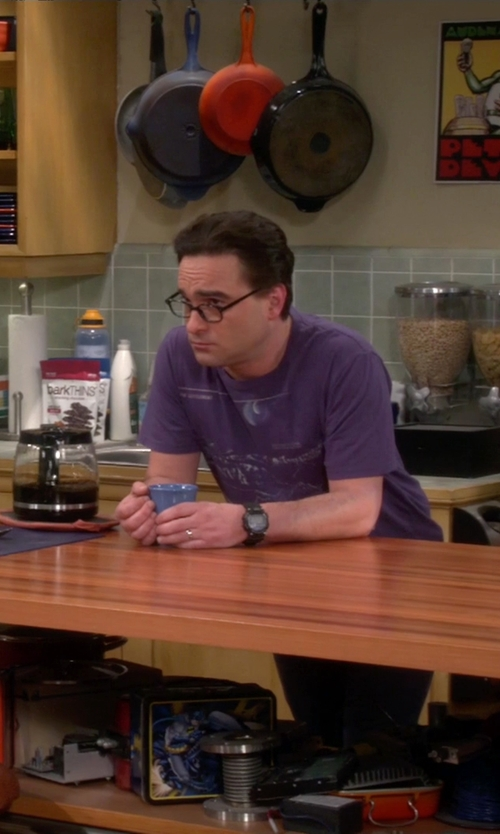 Johnny Galecki with Fash Limited Buddy Nerd Glasses in The Big Bang Theory