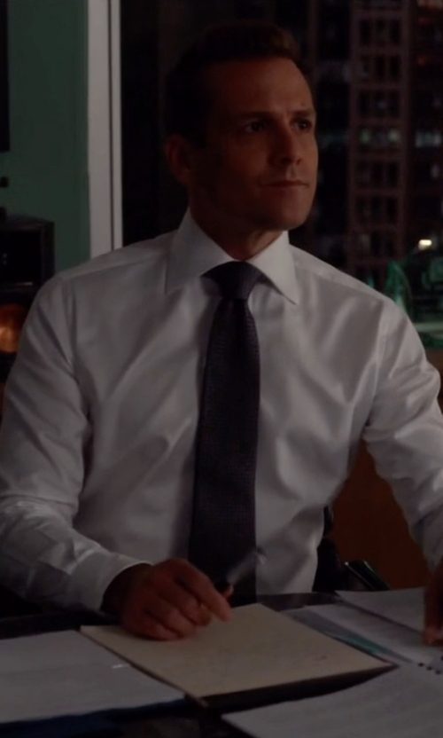 Gabriel Macht with Tom Ford Basic French Cuff Dress Shirt in Suits