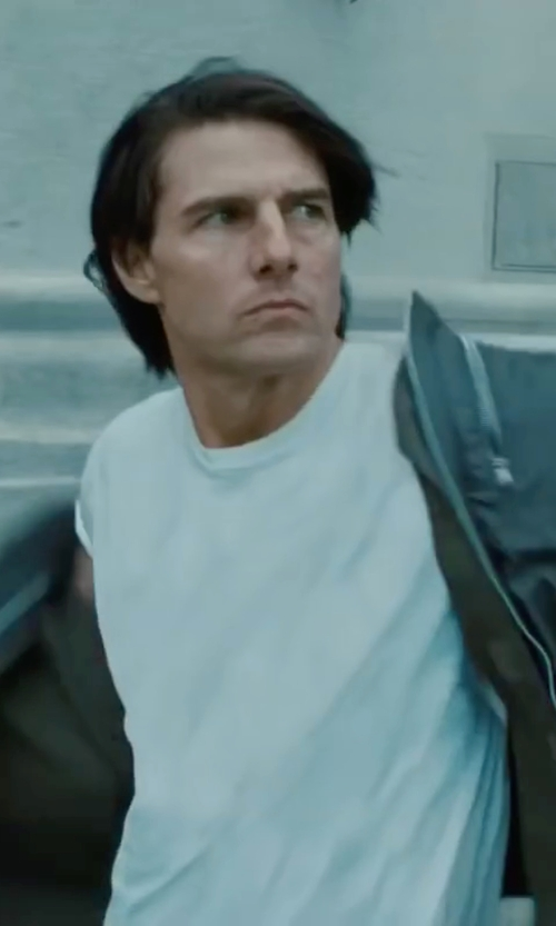 Tom Cruise with Spanx Cotton Control Crew Neck T Shirt in Mission: Impossible - Ghost Protocol