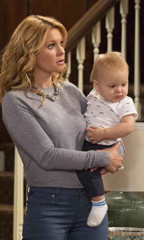Candace Cameron Bure with Ted Baker London SAPPHIR Crystal Stud Sweater in Fuller House