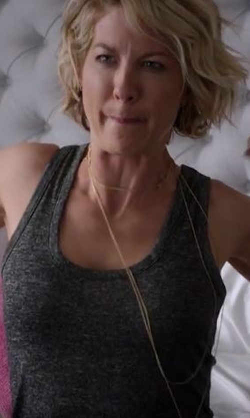 Jenna Elfman with Rag & Bone Stretch-Jersey Tank Top in Imaginary Mary