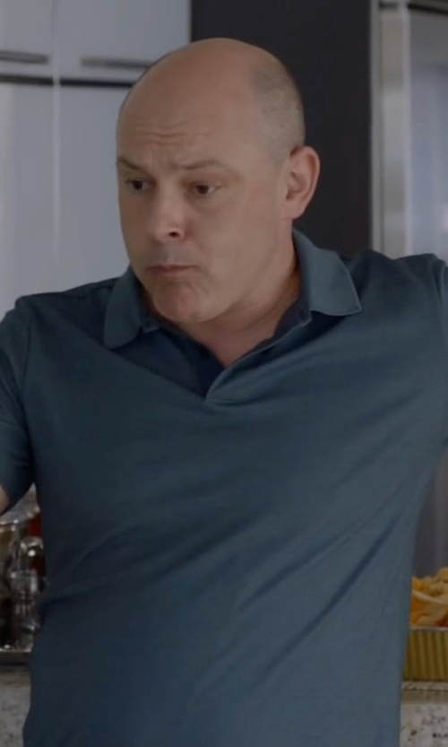 Rob Corddry with Theory Willem Nebulous Short-Sleeve Polo Shirt in Ballers