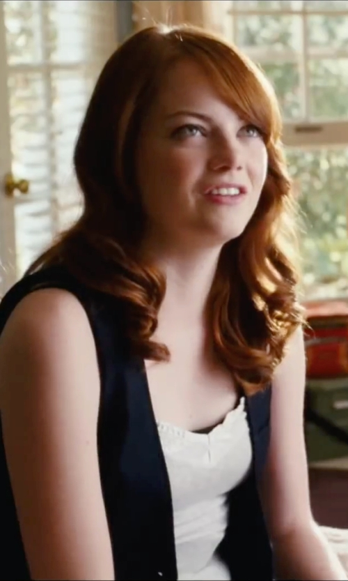Emma Stone with Diesel Black Gold Blazer in Easy A