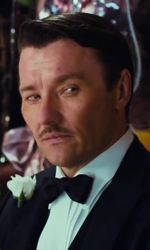 Joel Edgerton with Black Lapel Black Bow Tie in The Great Gatsby
