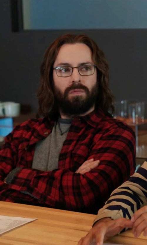 Martin Starr with Foster Grant Samson Reading Glasses in Silicon Valley