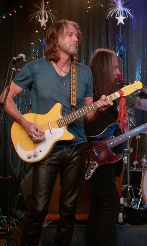 Rick Springfield with Danelectro '59 Mod Spruce Electric Guitar in Ricki and the Flash