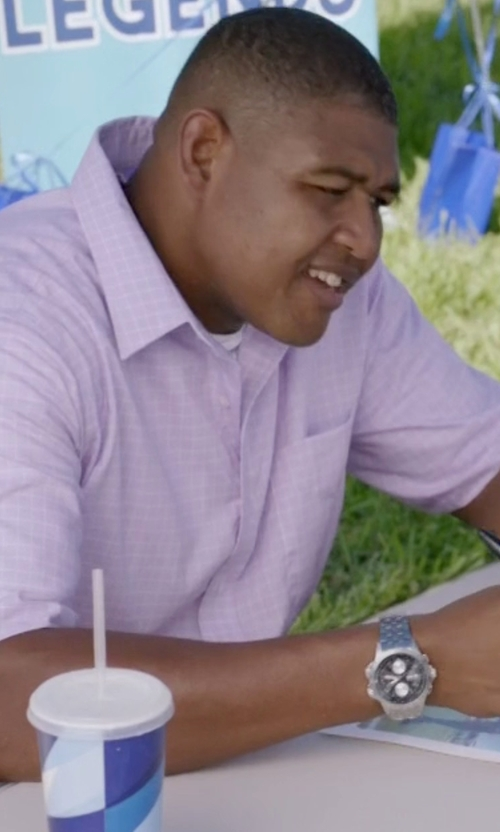Omar Benson Miller with Movado SE Pilot Chronograph Watch in Ballers