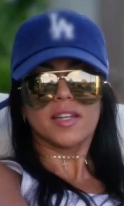 Kourtney Kardashian with 47 Brand MLB Clean Up Adjustable Baseball Cap in Keeping Up With The Kardashians