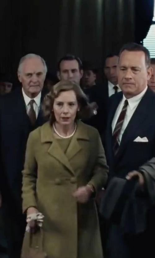 Amy Ryan with Swiss-Chriss Double Breasted Coat in Bridge of Spies