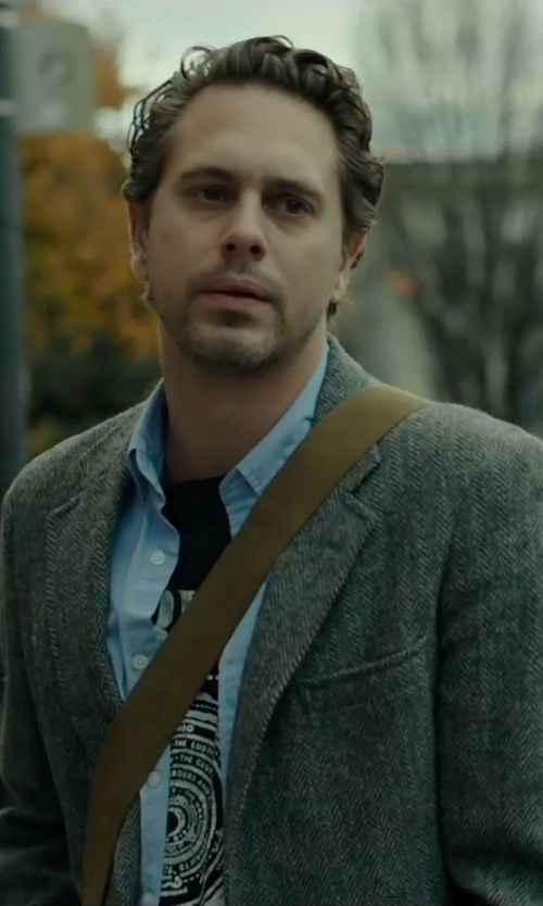 Thomas Sadoski with Theory Slyvain Solid Dress Shirt in Wild