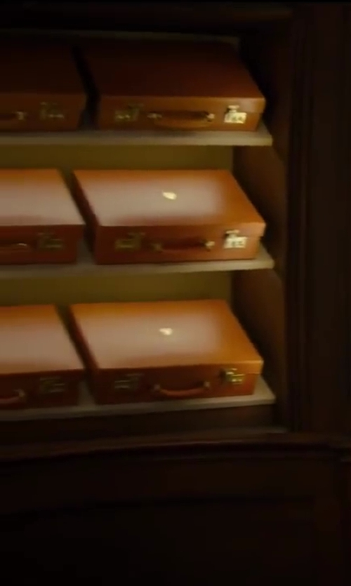 Colin Firth with Swaine Adeney Brigg Leather Briefcase in Kingsman: The Secret Service