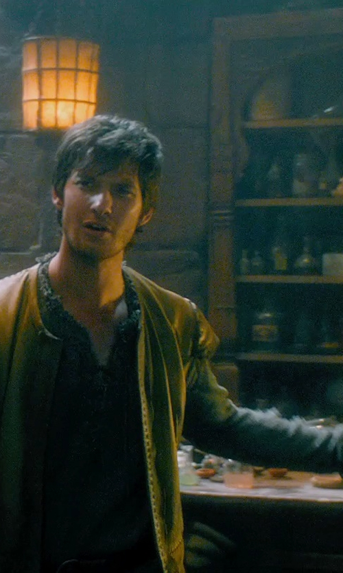 Ben Barnes with Jacqueline West (Costume Designer) Custom Made Medieval Doublet (Tom Ward) in Seventh Son