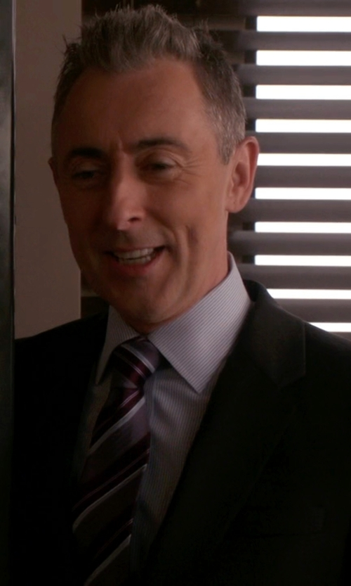 Alan Cumming with Canali Stripe Silk Tie in The Good Wife