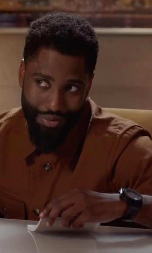 John David Washington with Audemars Piguet Royal Oak Offshore Chronograph Watch in Ballers