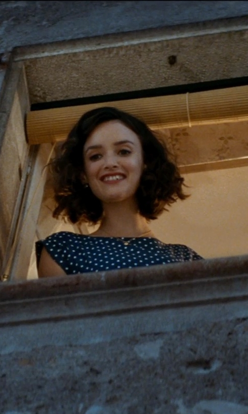 Charlotte Le Bon with Jones New York Polka Dot Dress in The Hundred-Foot Journey