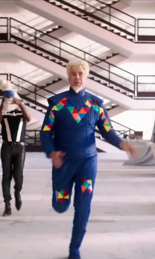 Will Ferrell with Leesa Evans (Costume Designer) Custom Made 'M by Mugatu' Suit in Zoolander 2
