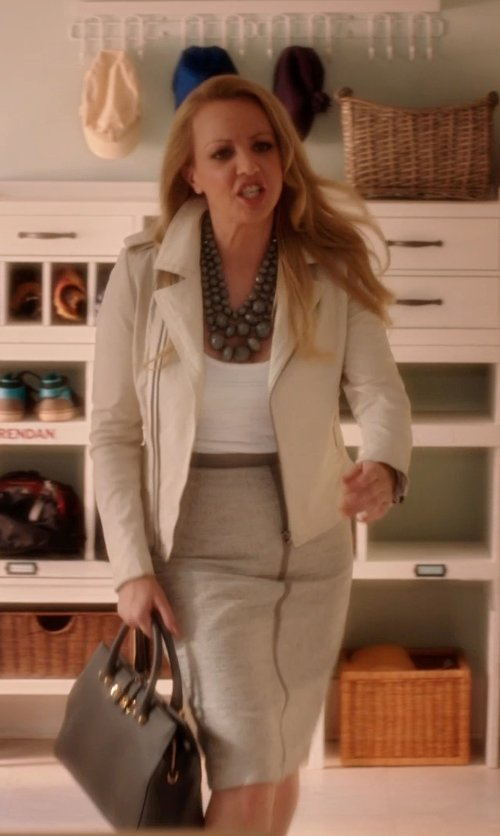 Wendi McLendon-Covey with MAXMARA Bona pencil skirt in Blended