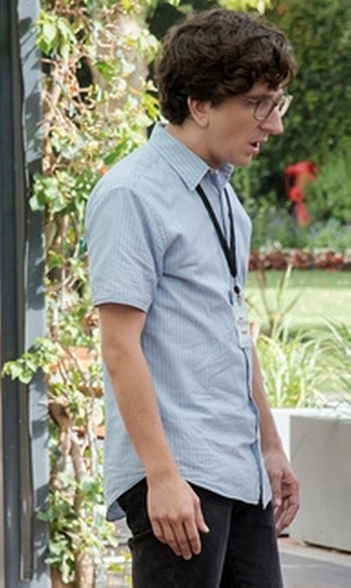 Paul Rust with Perry Ellis  Short Sleeve Solid Linen Shirt in Love