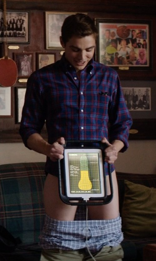 Dave Franco with Apple iPad Air in Neighbors