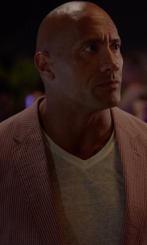 Dwayne Johnson with Tommy Hilfiger Chambray Classic Fit Sport Coat in Ballers
