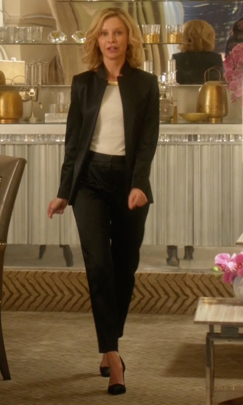 Calista Flockhart with Kate Spade New York Licorice Pumps in Supergirl