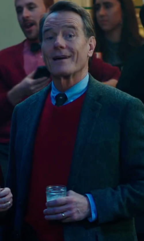Bryan Cranston with Brunello Cucinelli Cashmere V-Neck Pullover Sweater in Why Him?